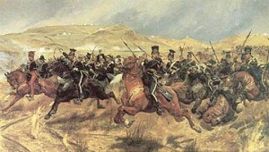 Charge of the Light Brigade painting by Woodville
