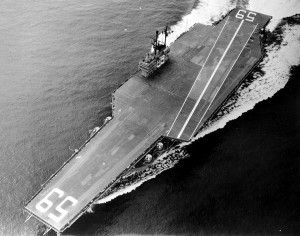 USS Forrestal on initial trials