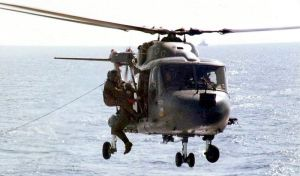Lynx helicopter in the Falklands