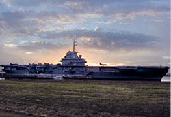 USS Yorktown (CV-10) in Charleston Harbor