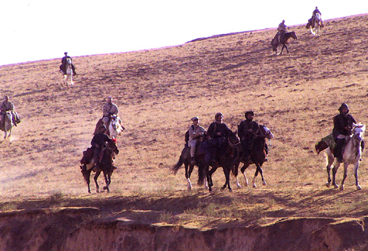US Special Forces on Horseback in Afghanistan