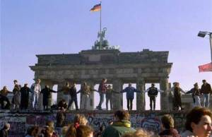 Berlin Wall Falls, November 1989.