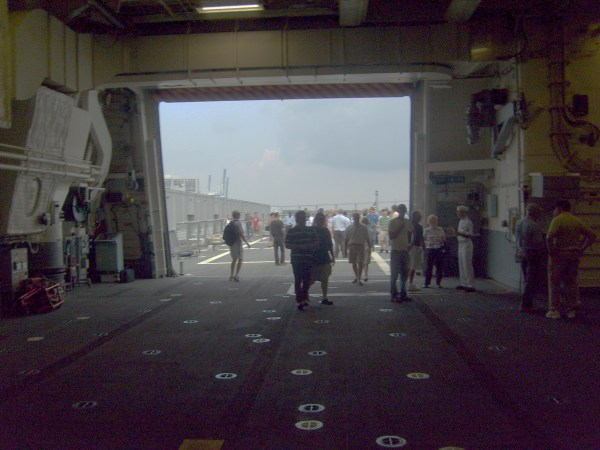 Freedom's very spacious hangar deck.
