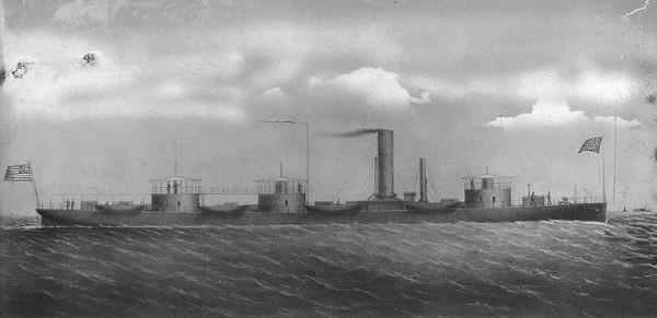 Depiction of Monitor USS Roanoke.