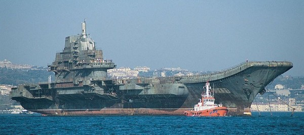 Ex-Soviet carrier Varyag would resemble ski-jump USS America in size and appearance.
