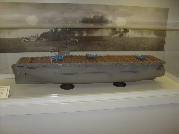 USS Gambier Bay, sunk by the Japanese at the Battle of Samar Oct. 25, 1944.