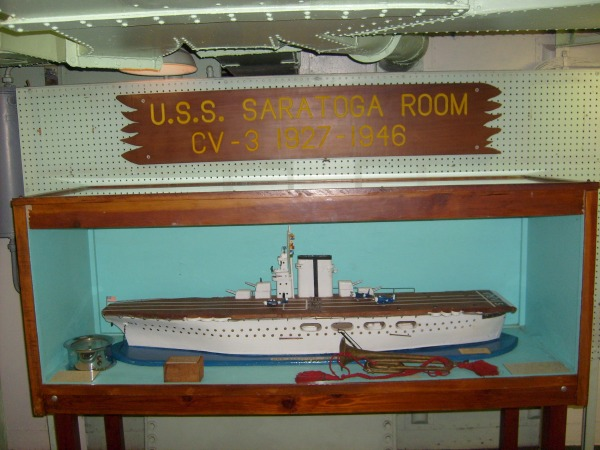 Beautiful display of pre-war carrier USS Saratoga CV-3.