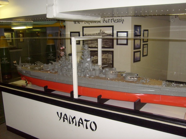 Huge model of the IJN Yamato.