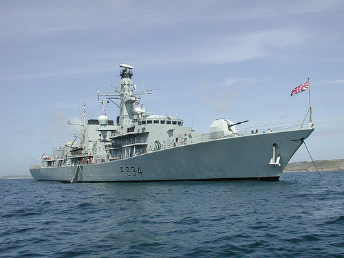 Type 23 frigate HMS Iron Duke courtesy of Jeremy Pearson.