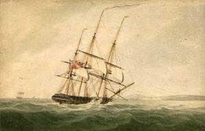 English Frigate circa 1790