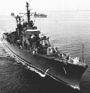 Destroyer Leaders like the USS Norfolk (DL-1) are direct ancestors of the modern missile cruiser.