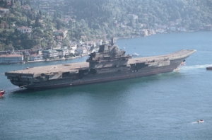 Former Russian carrier Varyag in Chinese possession.