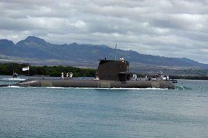 Australian navy submarine HMAS Waller (SSG 75).