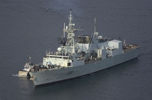 HMCS Winnipeg FFH-338, a Halifax Class Frigate.