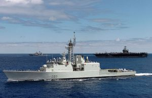HMCS Algonquin (DDH 283), a Tribal Class Destroyer.