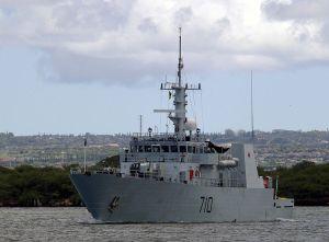 A Kingston class 970 ton coastal defense vessel.