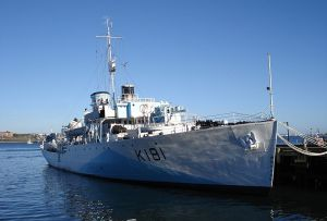 Corvette HMCS Sackville as a museum ship.