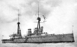 Fisher's Folly, the battlecruiser HMS Invincible (1907). She was sunk at Jutland with the loss of all but six of her 1000 crewmen.
