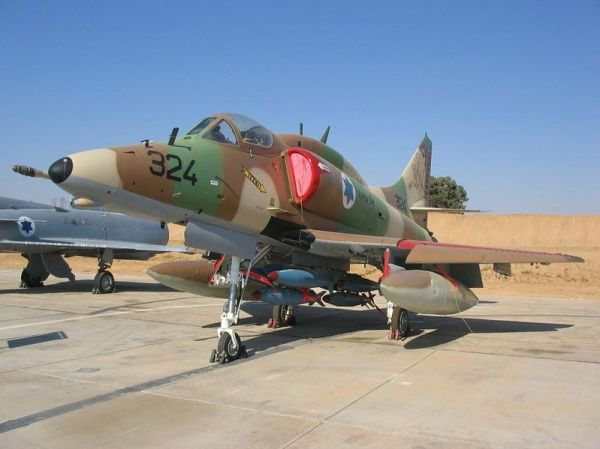 Israeli A-4 Skyhawk, via Wikimedia Commons.