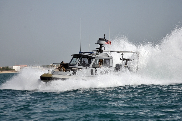 A harbor security, force protection boat assigned to Maritime Expeditionary Security Squadron (MSRON) 5, Kuwait.