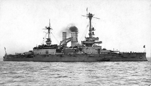 Pre-Dreadnought Battleship Schleswig-Holstein in 1928.