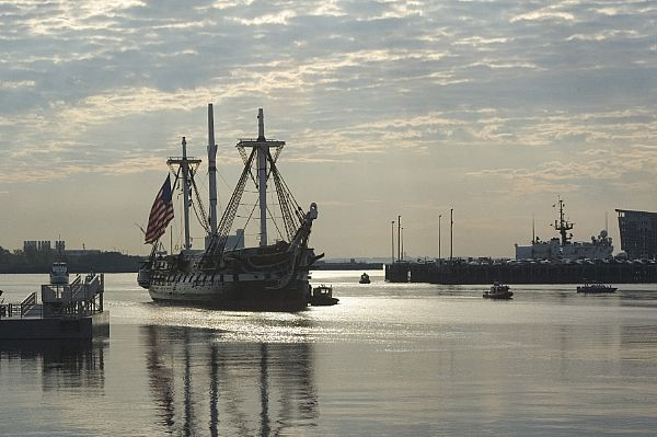 The oldest commissioned warship afloat, USS Constitution, went to sea on her 212th birthday.
