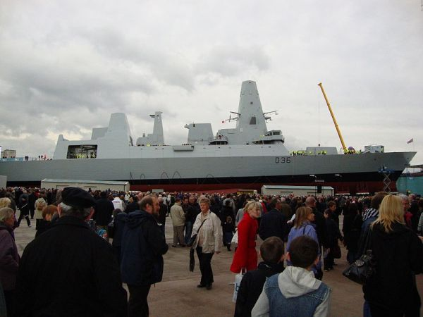 HMS Defender was launched at the BVT yard in Glasgow on Oct. 21.