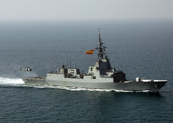 The 6200 ton spanish navy frigate alvaro de bazan f101
