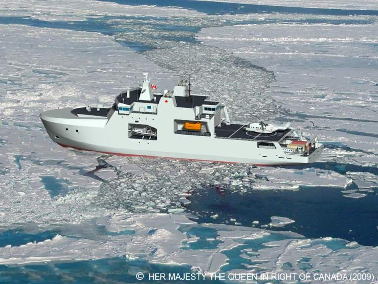 Proposed canadian arctic/offshore patrol ship